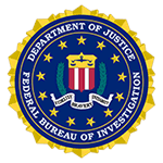 Federal Bureau of investigation department of justice logo