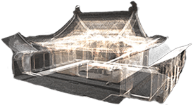 visual asset management display of a 3D temple point cloud