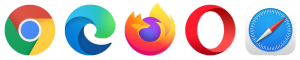 chrome edge firefox opera safari 网络浏览器