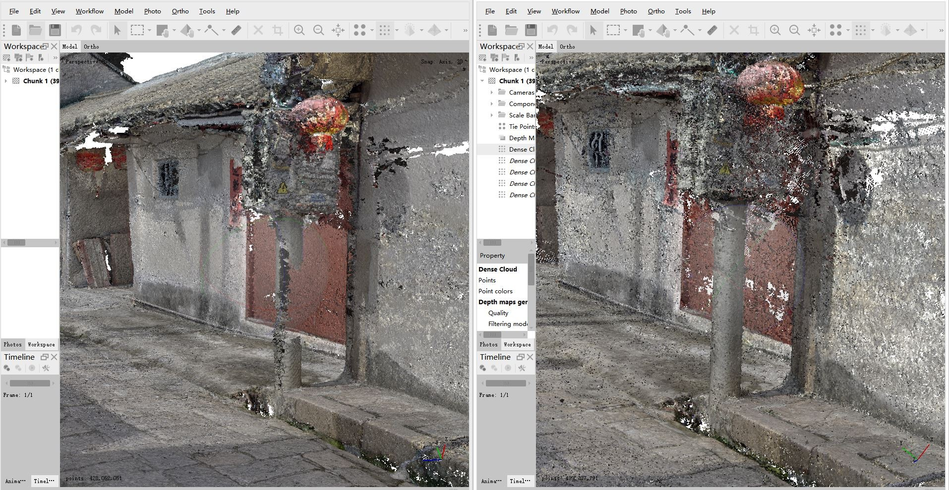 photogrammetry pointcloud of village