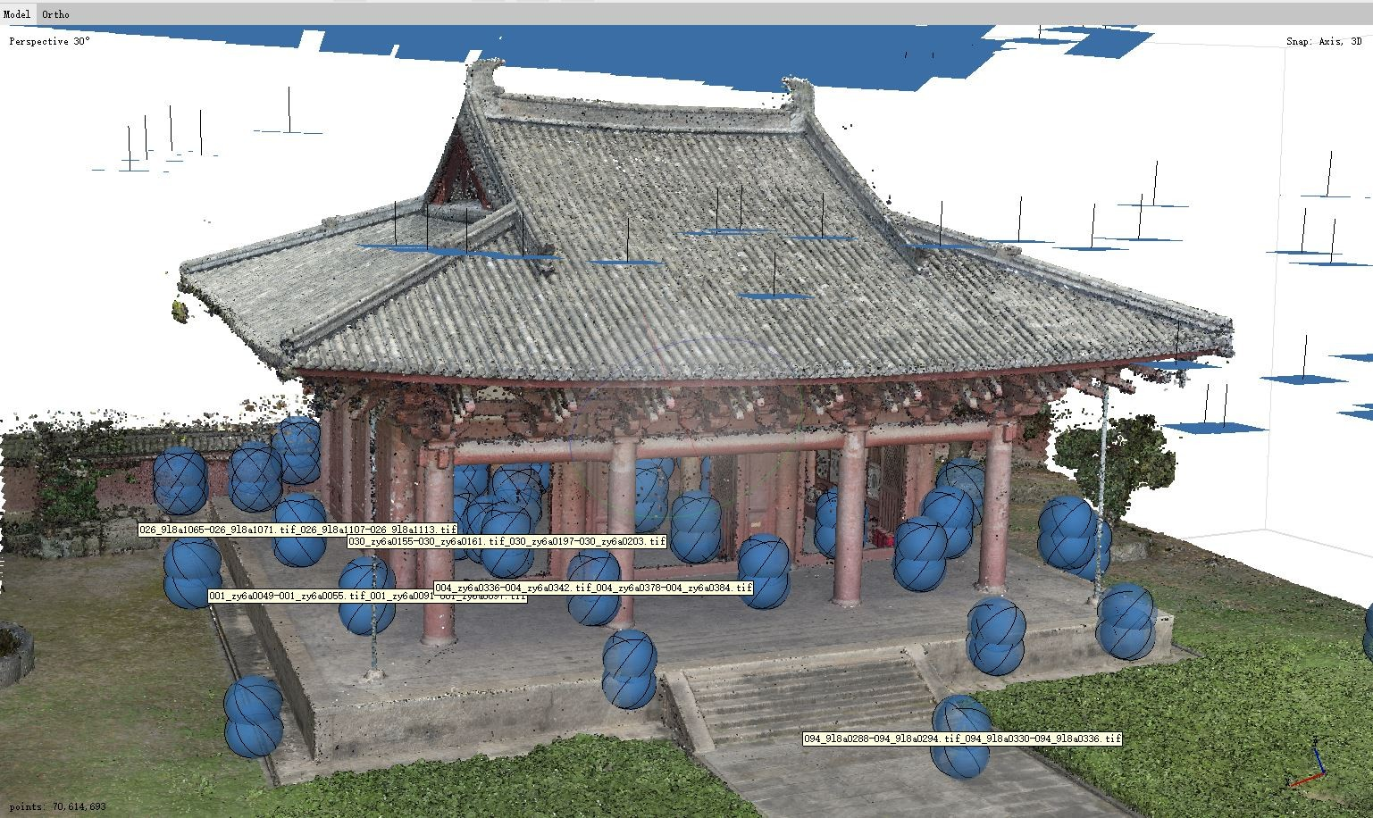 point cloud of village